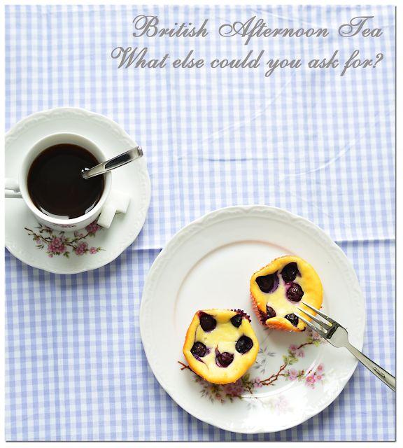 Sarahs Krisenherd: English Tea Party mit Mini Blueberry Cheesecakes