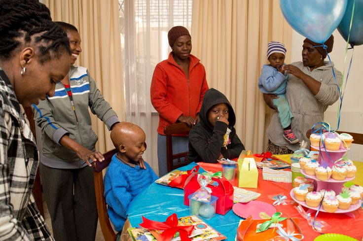 Some of the children undergoing cancer treatments, with their family member who is there to support and nurture them