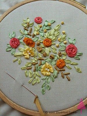 ribbon needlework | FREE SILK RIBBON EMBROIDERY PATTERNS - Embroidery Designs