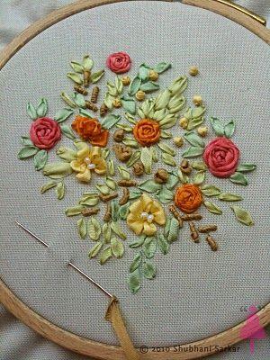 ribbon needlework   FREE SILK RIBBON EMBROIDERY PATTERNS - Embroidery Designs