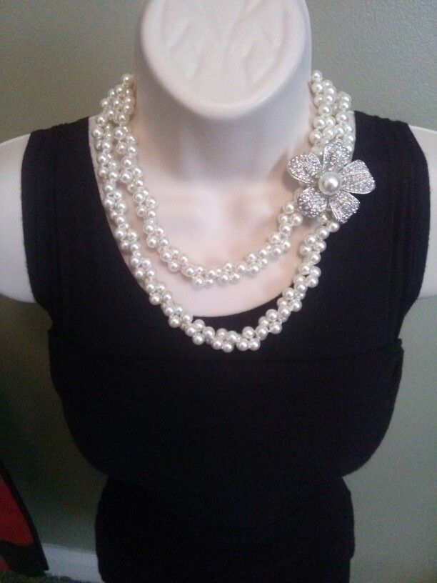 Opening Night Necklace~twisted and doubled with Prissy Pin #PremierDesigns Premier Designs Jewelry Collection HannahMiller.MyPremierDesigns.com access code: gems Facebook: Hannah's Gems and Jewelry