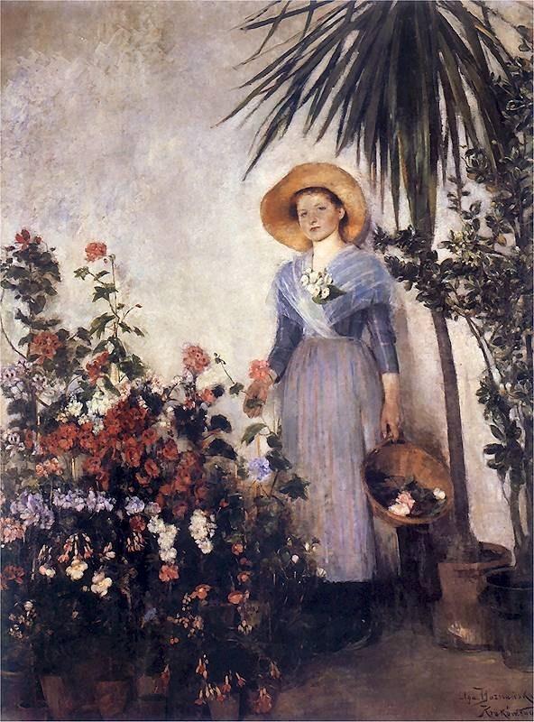 by Polish impressionist Olga Boznanska (1865-1945)