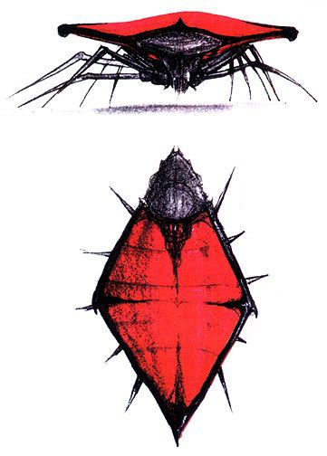 Bug concept art for Starship Troopers (1997).