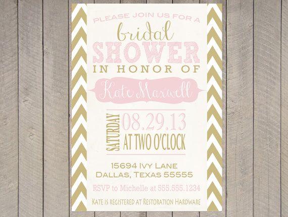 blush pink gold vintage bridal shower invitation baby