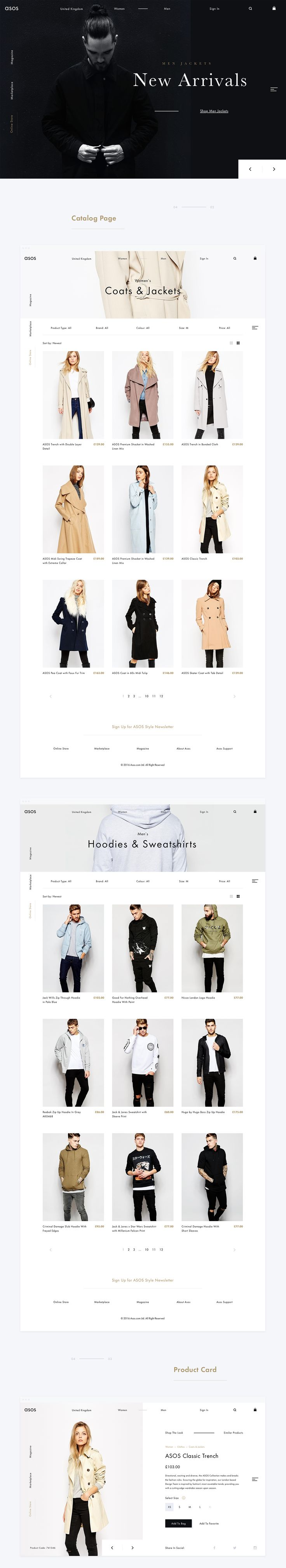 Asos. Redesign & Rethinking Concept on Web Design Served