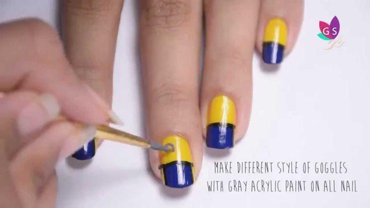Despicable Minion Nail Art Design - Tutorial