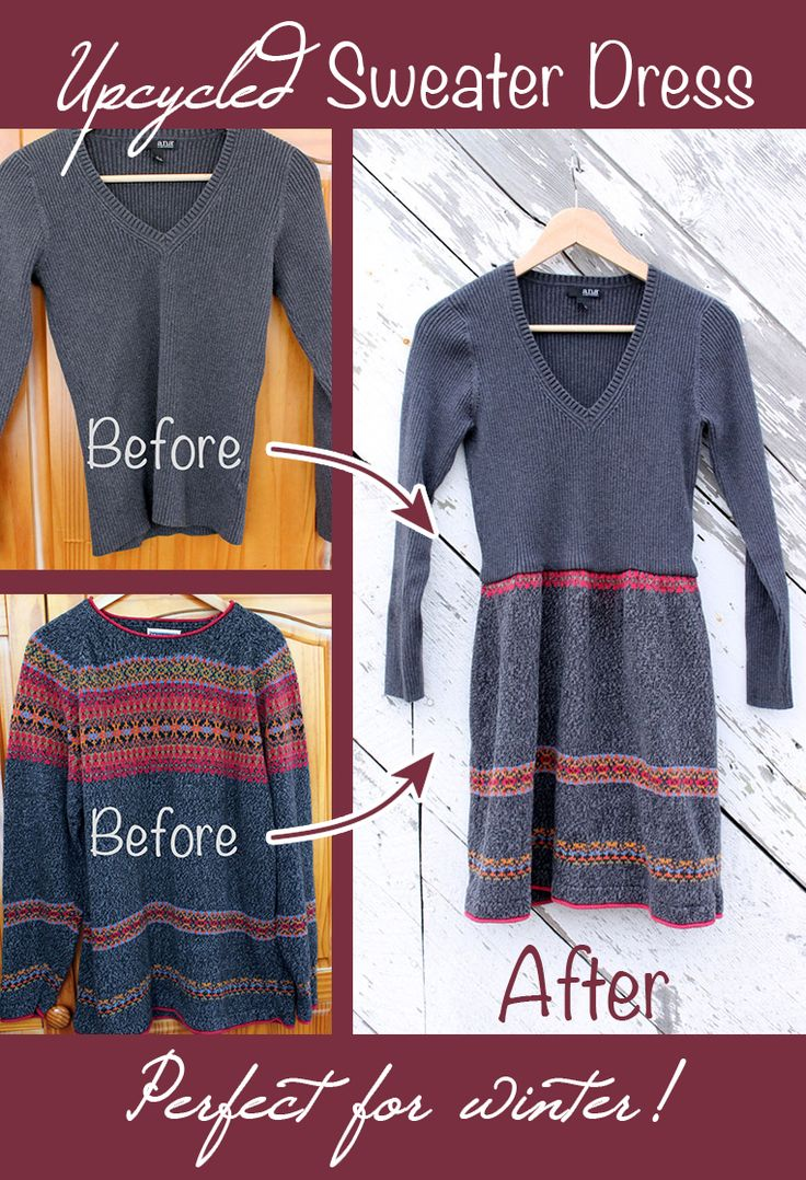 Who doesn't want to wear comfortable sweaters all the time? Now you can make a cozy, comfy dress! #DIY This is fabulous, @Beth Huntington!