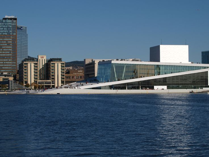 The world famous opera house in Oslo.