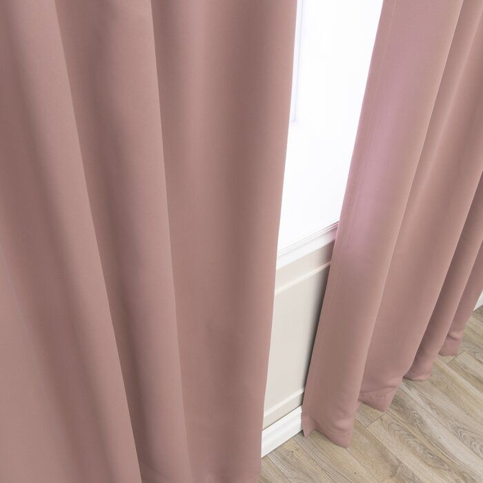 Solid Blackout Thermal Grommet Curtain Panels In 2020 Curtains