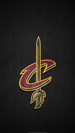 Cleveland Cavaliers Mobile hardwood Logo Wallpaper