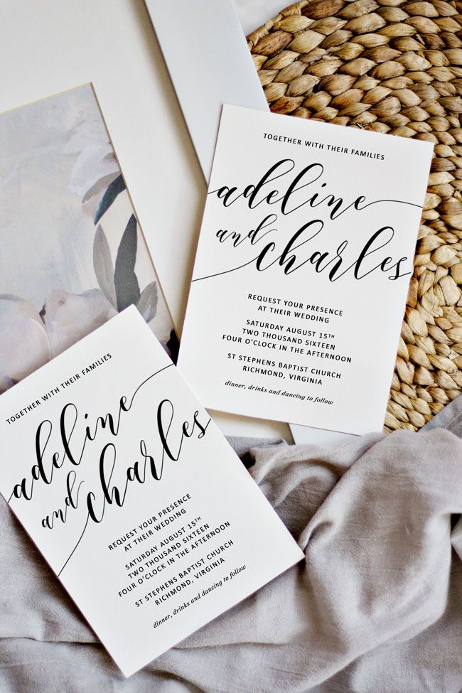 How to print your own wedding invitations and still have them look like you spent a fortune.