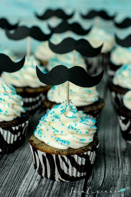 DIY Mustache Cupcake Toppers | JavaCupcake.com