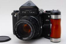 ***Exc+++*** Pentax 6x7 67 w/ Takumar 105mm f/2.4 + Wood Grip from Japan #1417