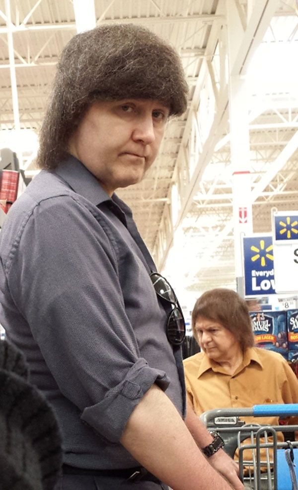 Bad Wigs and Toupees at Walmart. Hair Club for Men Fail. - Funny Pictures at Walmart