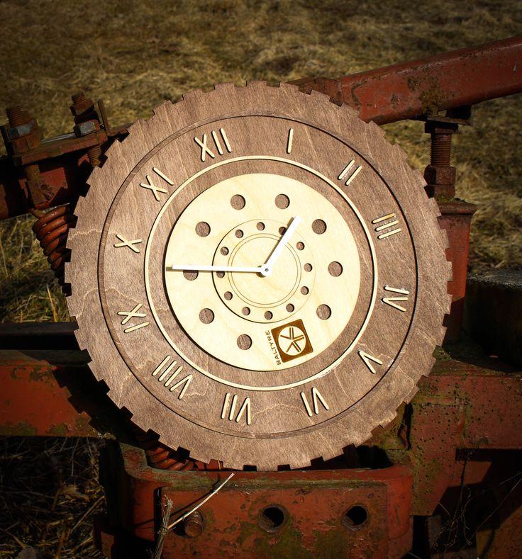 Tyre wall clock, Wood wall clock, Home decor, Large wall clock, Laser cut  wood, Housewares, modern clock, Wheel, clock,Wood,Wooden,gift. Linseed  OilWooden ...