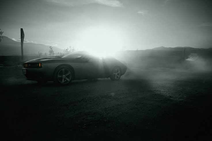 Dodge Challenger by He & Me. #heandme #dodgechallenger #blackandwhite #carporn #roadtrip