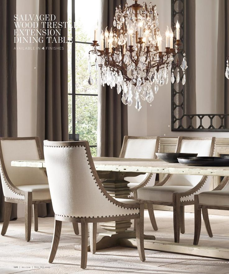 Restoration hardware lighting dining room 146 best for Restoration hardware dining room ideas