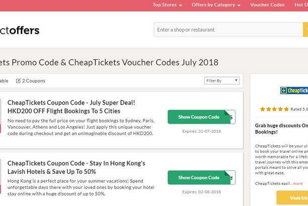 CheapTickets hk Promo Code   Collect Offers   Voucher code, Code