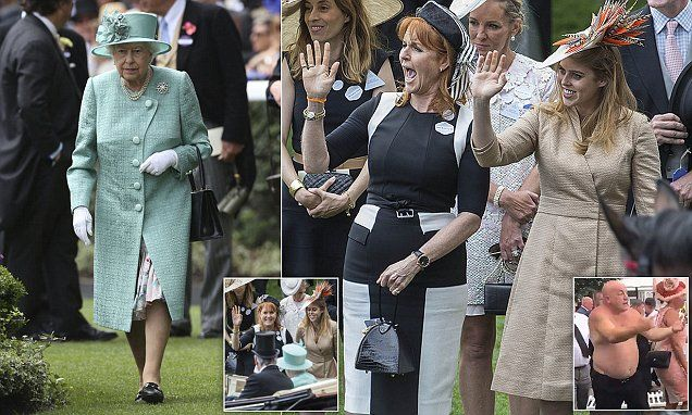 Fergie has never made any secret of her fondness for her former mother-in-law the Queen. The Duchess of York waved ecstatically as she welcomed the monarch on the fourth day of Ascot.