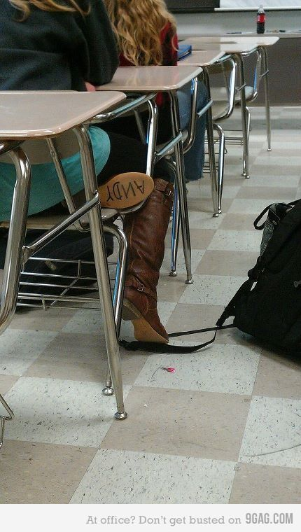 If you find a woman with this on her boot, marry her! I have Andy written on the bottom of my cowboy boot