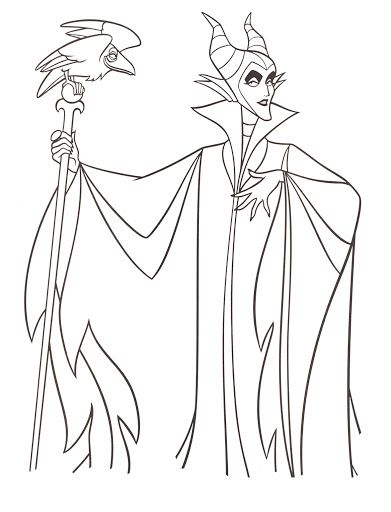 Coloring Page Disneys Maleficent Free Printables Crafts And Pages