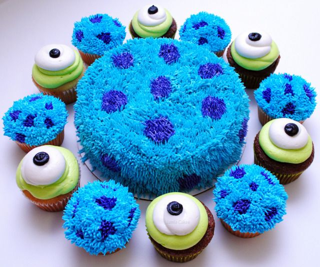 Monsters Inc. Cake andCupcakes