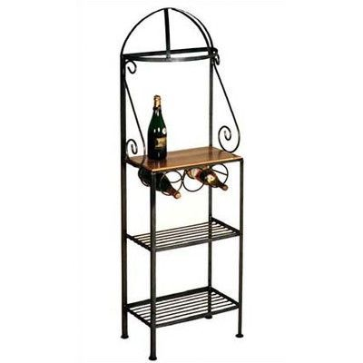 Grace Gourmet Baker's Rack Finish: Burnished Copper, Brass Tips: Without Brass Tips