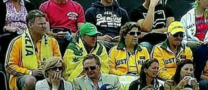 Parents and brother & sis-inlaw....go kookaburras - Olympics in London - with Tim D number 19