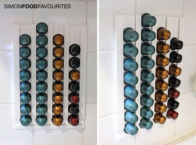 simon food favourites how to make a diy nespresso pod wall rack for nothing