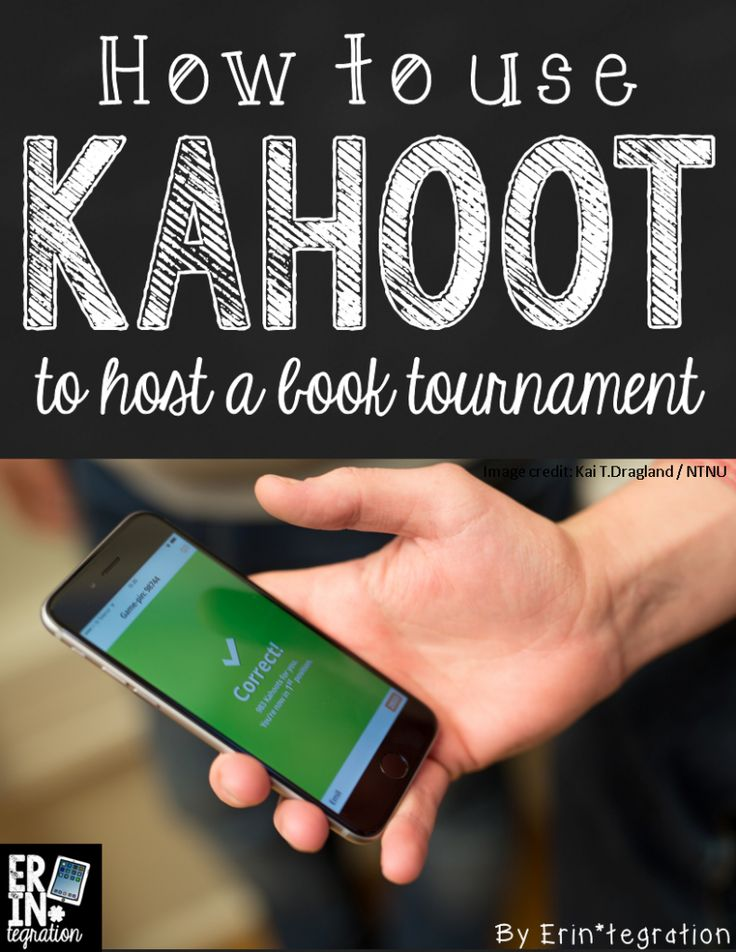 How to use the free website Kahoot to have a March Madness style book tournament!