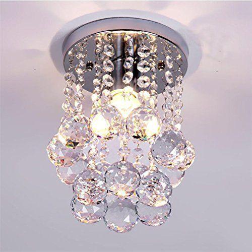 Modern Crystal Chandeliers Flush Mount Rain Ceiling Light Drop Pendant Light #CrystalChandeliers