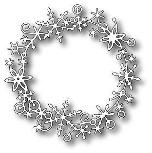 Karten-Kunst - Stempel- und Scrapbook-Shop - Memory Box Stanzschablone - Frostyville Wreath