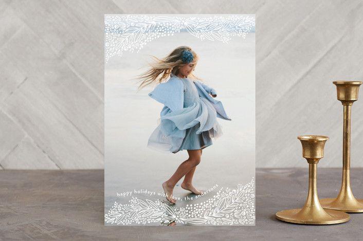 """snowlike"" - Flora & Fauna, Full-Bleed Photo Holiday Photo Cards in snow by Phrosne Ras."
