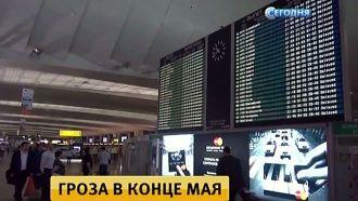 Аэропорты Москвы почти сутки не могут вернуться в график после повредившей самолеты грозы.    Москва, аэропорты, молния, погода, штормы и ураганы.    НТВ.Ru: новости, видео, программы телеканала НТВ