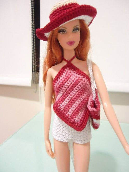 barbie short shorts free crochet pattern beach bag and barbie clothes. Black Bedroom Furniture Sets. Home Design Ideas