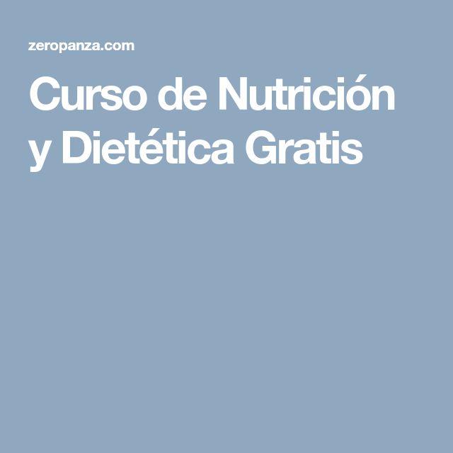 Curso de Nutrición y Dietética Gratis