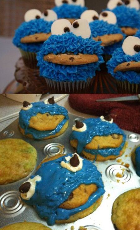 """""""You did it wrong."""" Probably still delicious, but fugly.: Laughing, Cookie Monster Cupcakes, Nailed It, Cookies Monsters Cupcake, Funny Stuff, Nails It, Nailedit, Things, Pinterest Fails"""