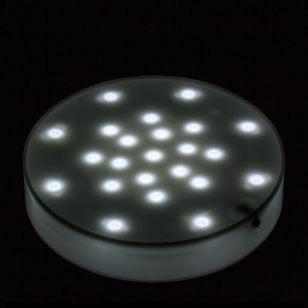 23 Led Battery Operated 7 Inch Light Base White Body White Light White Light White Bodies Light