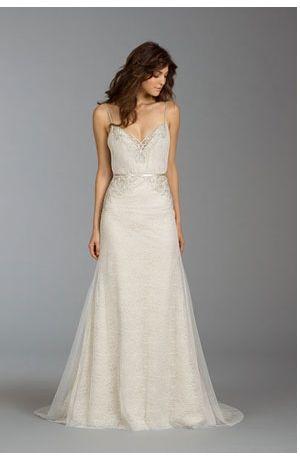 Bridal Gowns: Alvina Valenta Sheath Wedding Dress with Sweetheart Neckline and Natural Waist Waistline
