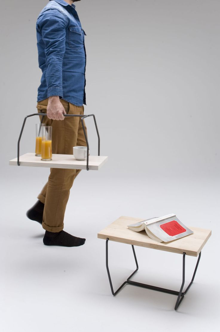 2 in 1 side table, tray