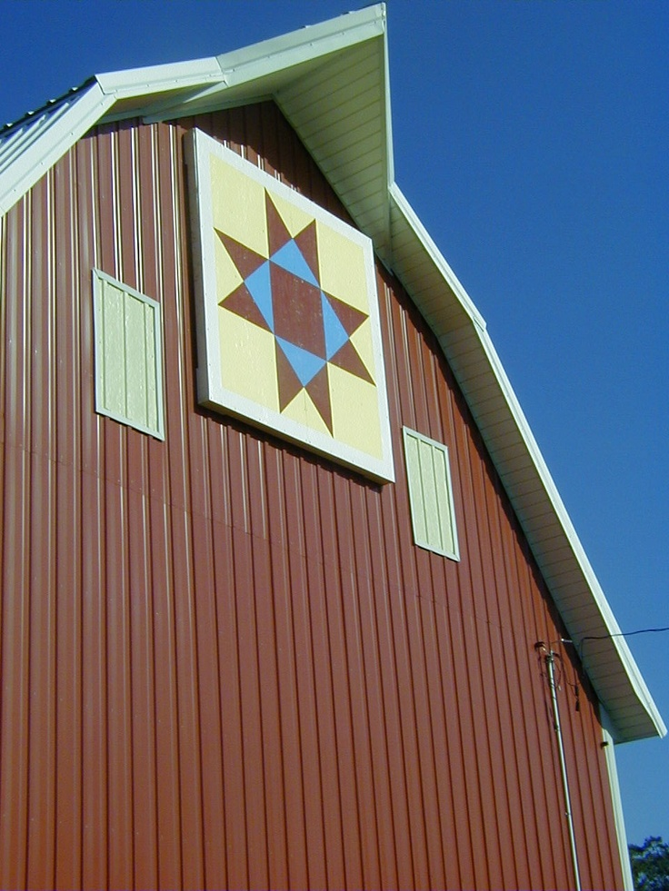 Our barn quilt, Butler County, Iowa Barn Quilt Trail