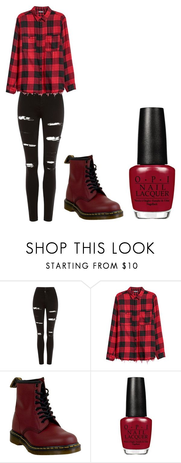 """""""Untitled #275"""" by farah-ihssane ❤ liked on Polyvore featuring Topshop and Dr. Martens"""