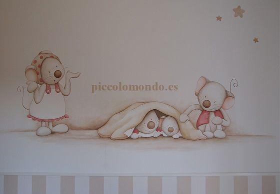 Murales infantiles, siluetas, cuadros bebe, Piccolo Mondo - Mamidecora.com