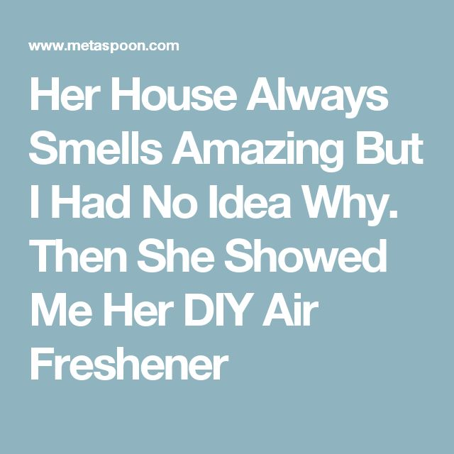 Her House Always Smells Amazing But I Had No Idea Why. Then She Showed Me Her DIY Air Freshener