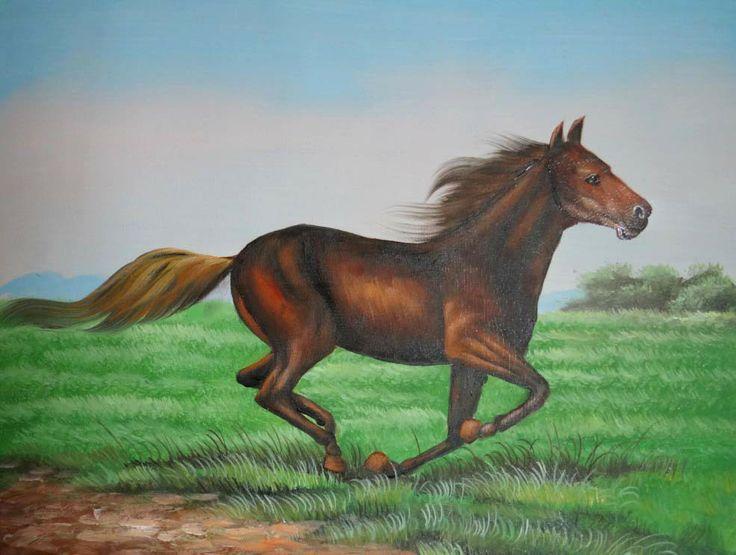 ручной росписью современная стены дома декора картина маслом холстины 2013 новый современный лошадей животных