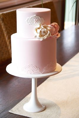 Such a beautiful sweet vintage christening cake by Couture Cupcakes & Cookies: Sweet Vintage