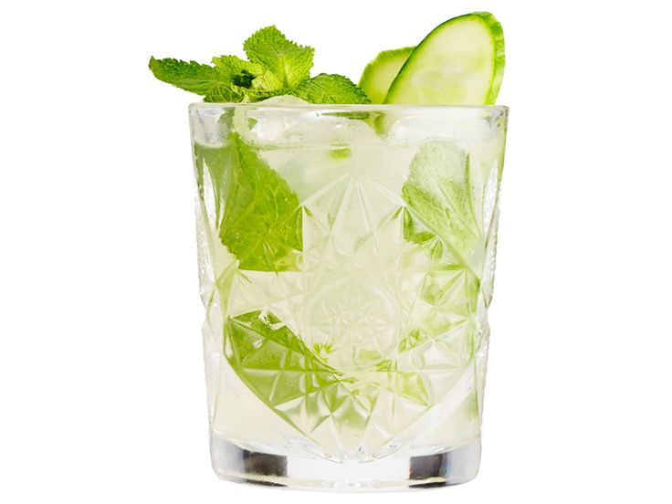 Alkoholfri drinks: Summer Grace; agurk, mynte, hyldeblomstsaft, ginger beer
