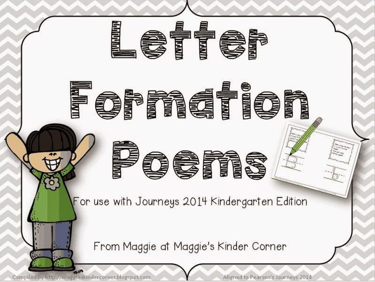 Letter Formation Poems for use