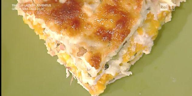 Ricette+Sergio+Barzetti:+lasagne+di+pollo+zucca+e+speck