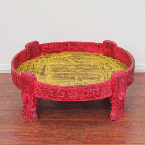 Antique Indian Grinder Pink   The Importer   Furniture And Homewares $245  Coffee Table From Www